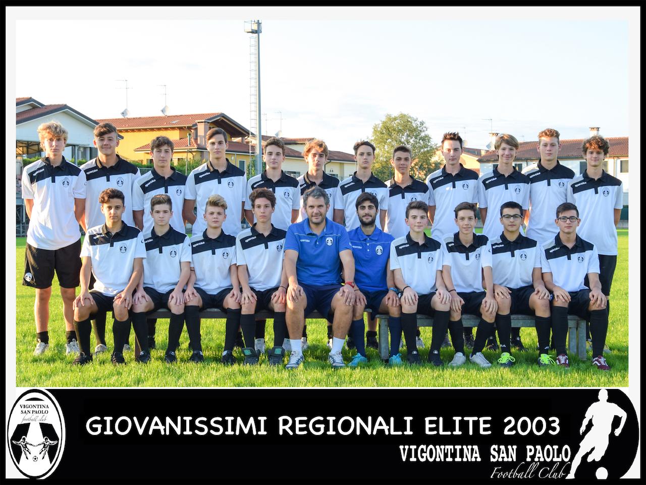 2003 Giovanissimi Regionali Elite